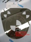 logo bmw tagliato al laser con marcatura su acciaio inox lucido a specchio