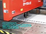 Taglo laser griglia su lamiera inox satinata