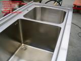 Lavandino inox speciale su misura con bordo