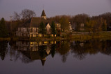Late Autumn Evening at the Mill Pond Church  ~  October 30