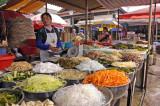Street market in western  China