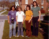 Duncan (with Pentax SV), Stephen, Sheila & Eric Bristow,  154 Norfolk St. S. , Simcoe 1973