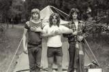 Bill Cox, Steve Jones & Eric Bristow Camping