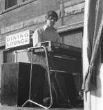 Ian Madge at Ace Tone Keyboard (Roland predecessor) Downtown Simcoe
