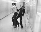John Knott & John Salyi - playing SCS Hallway Hockey