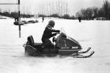 Snowmobiles at SCS Football Field (Moto-Ski) 1971