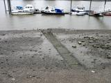 Foreshore at Fulham draw dock.