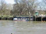 The Hurlingham entering the lock.