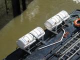 Life rafts on the Hurlingham.
