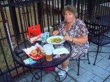 Eating on Beale St.