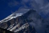 Clouds gathering around the peak