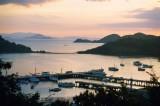 Labuanbajo harbour at sunset