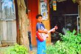 A boy with a guitar