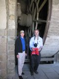 Mont-Saint-Michel human hamster wheel