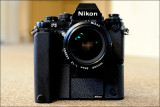 Nikon F3 with MD-4 and 50mm/f1.2