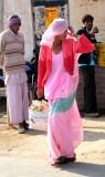 La femme en rose
