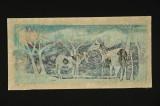 silk horses (woodcut) 14 x 29