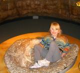 Dinosaur footprint girl 3-26-06