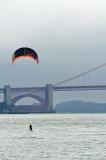 kite surfin' the bay