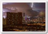 Lightning over Victoria Harbour