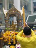 The first day, we went to the Erawan shrine.