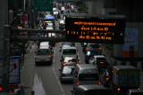 Traffic near Silom Center