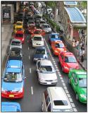 Bangkok traffic, Silom road