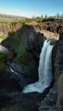 48 meters high waterfall on feeder of the Dulismar river