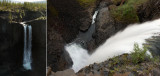one 48-meters high waterfall from different sides (trying to show the height of it)
