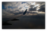 flying over the Black sea