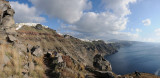 View on the village of Imerovigli and the town of Fira