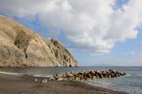 Santorini. Beach near the village of Perissa