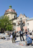 Lviv. Monument to Ivan Fedorov, the founder of book printing in Russia and Ukraine