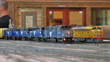 Robert Forsstrom's MRL train ready to depart Mojave Yard.