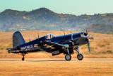F4U-4 Corsair returns to Base