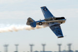 """Bill Leff in his AT-6 """"Texan"""""""
