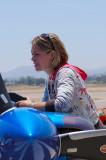 Melissa Andrzejewski pre-flights her Zivko Edge 540