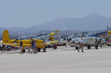 Beech T-34 Mentors in foreground