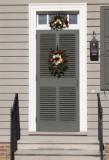 13.  A decorated doorway.