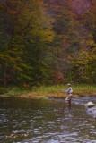 18.  An angler below the falls.