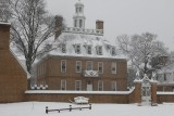 COLONIAL WILLIAMSBURG IN A WINTER SNOWSTORM