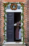 9.  Being welcomed into the Wythe house.