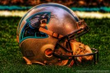 Carolina Panthers helmet in HDR