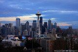 Seattle's Space Needle and downtown from Queen Anne Hill