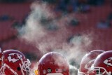 Kansas City Chiefs lineman in the cold