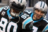 Carolina Panthers DE Julius Peppers and QB Jake Delhomme
