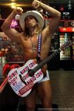 The Naked Cowboy invades Ybor City prior to Super Bowl XLIII