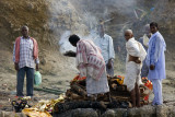 Cremation near Ganges river