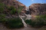 Almost dry Gunlom Falls (UDP Falls), Kakadu NP