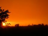 Post-storm sunset; actual color